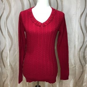 Eddie Bauer Cable Knit Sweater. Size M